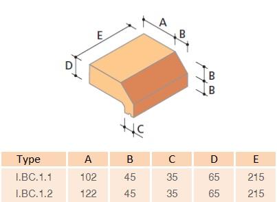 IBC1 Base Coping Standard Brick